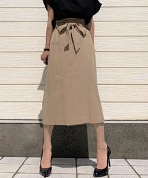 ミモレリボンスカート(スカート)