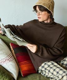 オーバーサイズミラノリブタートルニットセーター 2021-2022WINTER(EMMA CLOTHES)ダークブラウン