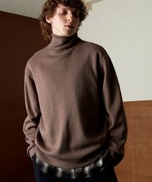 オーバーサイズミラノリブタートルニットセーター 2021-2022WINTER(EMMA CLOTHES)ブラウン系その他