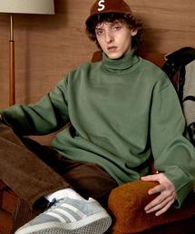 オーバーサイズミラノリブタートルニットセーター 2021-2022WINTER(EMMA CLOTHES)グリーン系その他