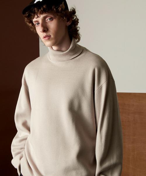 オーバーサイズミラノリブタートルニットセーター 2021-2022WINTER(EMMA CLOTHES)
