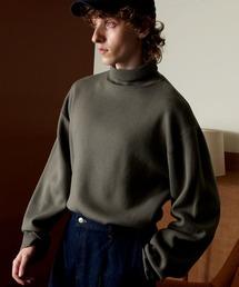オーバーサイズミラノリブタートルニットセーター 2021-2022WINTER(EMMA CLOTHES)グレイッシュベージュ