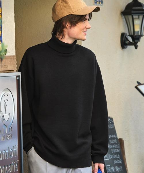 オーバーサイズ畦編みタートルニットセーター(EMMA CLOTHES)