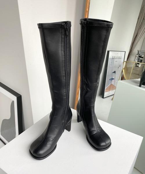 【chuclla】【2020/AW】round block-toe ロングブーツ chs81