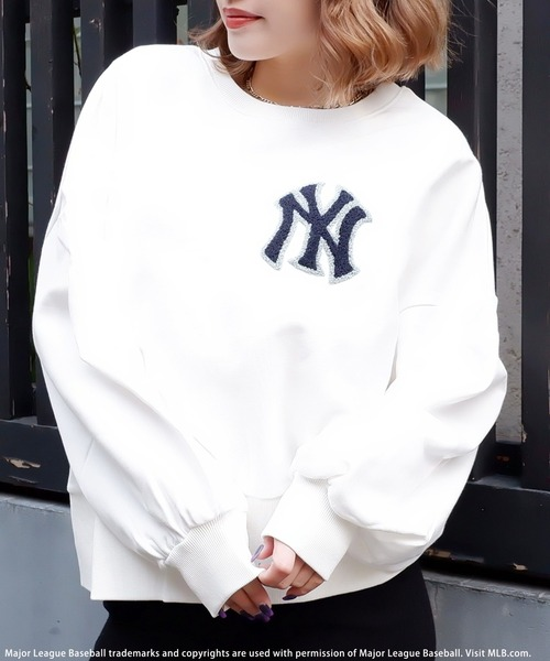 【MLB】ワンポイント刺繍オーバートップス