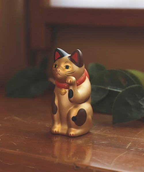 BEAMS JAPAN(ビームス ジャパン)の「中外陶園 × BEAMS JAPAN / 別注 まねき猫 左手 3号(インテリア雑貨)」 ゴールド