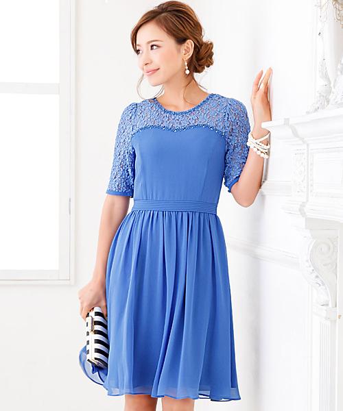 【SALE】 【結婚式・お呼ばれ対応ワンピースドレス】レース切り替えシフォンワンピース・パーティードレス(ドレス)|GIRL(ガール)のファッション通販, クッション生活 made in OSAKA:78884887 --- blog.buypower.ng