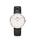 Daniel Wellington(ダニエルウェリントン)の「「Daniel Wellington/ダニエルウェリントン」 クラシック 36mm レザーバンド ローズゴールド/シルバー(腕時計)」 ブラック×ゴールド