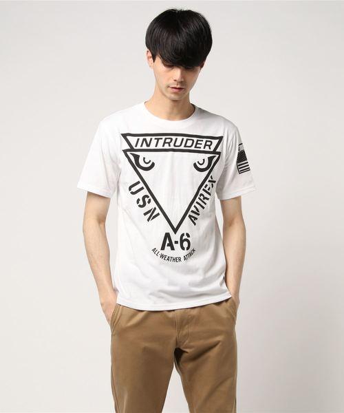 AVIREX/アヴィレックス/ 半袖 T/C クルーネック Tシャツ  'イントルーダー'/ S/S T/C CREW NECK T-SHIRT INTRUDER