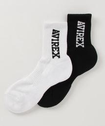 AVIREX(アヴィレックス)のAVIREX/アヴィレックス/ ロゴ ショートソックス/ LOGO SHORT SOCKS(ソックス/靴下)
