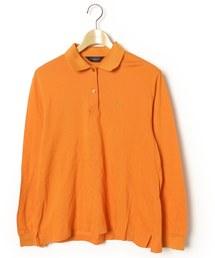 bc8483d37e86e BURBERRY GOLF(バーバリーゴルフ)の古着「ワンポイント長袖ポロシャツ(ポロシャツ)