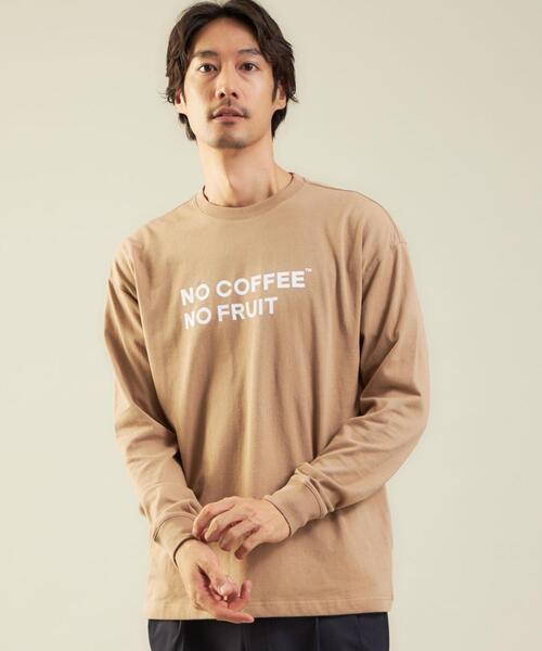 【別注】<FRUIT OF THE LOOM×NO COFFEE>ロゴ T1 Tシャツ ロンT