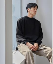 <green label relaxing>GIZA ソリッド モックネック 長袖 カットソー