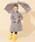 こども ビームス(コドモビームス)の「こども ビームス / ユニセックス 窓付き bロゴ カラー 長傘 (45 & 50cm)(長傘)」|チャコールグレー