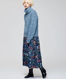 TRUNO by NOISE MAKER(トルノバイノイズメーカー)の新色&新柄発売 ★ボタニカル花柄スカート★(スカート)