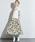 TRUNO by NOISE MAKER(トルノバイノイズメーカー)の「新色&新柄発売 ★ボタニカル花柄スカート★(スカート)」|ホワイト