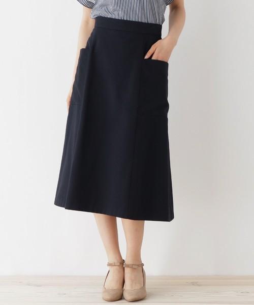 couture brooch(クチュールブローチ)の「【WEB&一部店舗限定販売】ビックポケットフレアースカート(スカート)」|ブルー
