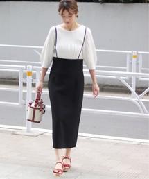 NOBLE(ノーブル)の*<otona MUSE7月号掲載>ショルダーストラップサロペットスカート3◆(スカート)