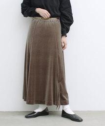 YEAR FEW OF MY FAVORITE THINGS(イヤーフューオブマイフェイバリットシングス)のベロアストレッチ  AラインロングSK(スカート)