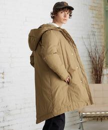 【EMMA CLOTHES】ブライトNC ロングリアルダウンジャケット/モンスターパーカー ロングダウンJKT ダウンコートベージュ