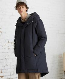 【EMMA CLOTHES】ブライトNC ロングリアルダウンジャケット/モンスターパーカー ロングダウンJKT ダウンコートネイビー