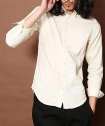 MANGROVE(マングローブ)の【MANGROVE】カラー綿麻長袖BDシャツ(シャツ/ブラウス)