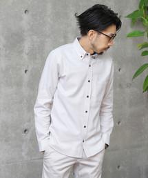 MEN'S MELROSE(メンズ メルローズ)のハニカムフランネルBDシャツ(シャツ/ブラウス)