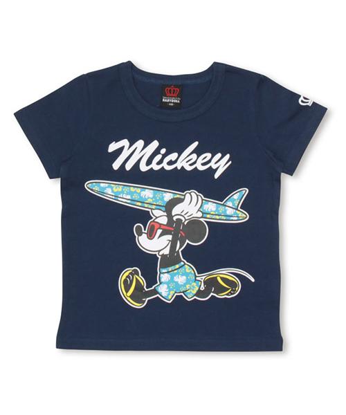 BABYDOLL(ベビードール)の「親子お揃い Disney(ディズニー) サーフTシャツ 2281K(Tシャツ/カットソー)」|ネイビー
