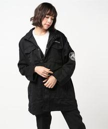 ワッペン付オーバーサイズ M-65ジャケットブラック