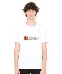 graniph(グラニフ)のコラボレーション刺繍Tシャツ/さかだちできるかな(ノンタン)(ホワイト)(Tシャツ/カットソー)
