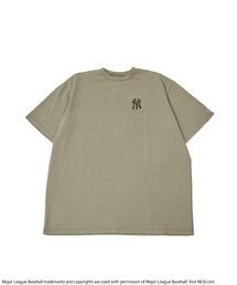 【MLB】ワンポイントロゴTシャツカーキ