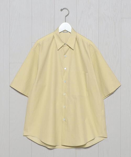 <AURALEE>FINX SHORT SLEEVE SHIRT/シャツ.