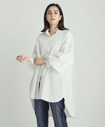 パールボタンシャツホワイト