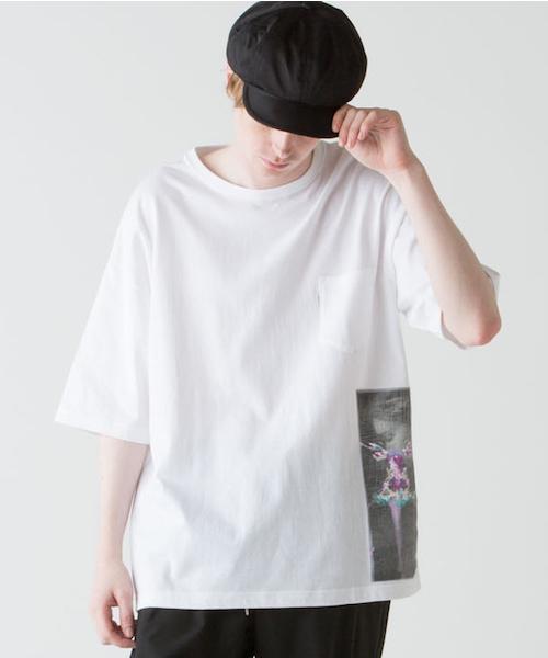 rehacer(レアセル)の「rehacer : × Ai Ohkawara 'Silence '(Tシャツ/カットソー)」|ホワイト
