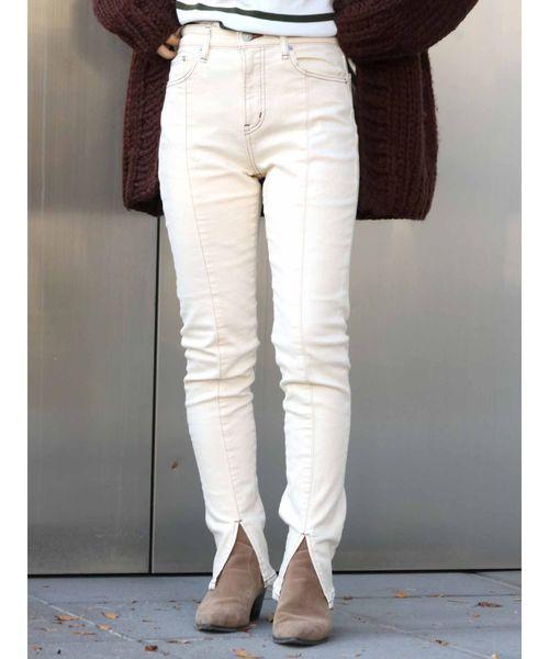 世界的に有名な スリットストレッチデニム(デニムパンツ)|Ungrid(アングリッド)のファッション通販, アメリカンコスチューム:8de7c1d4 --- 5613dcaibao.eu.org