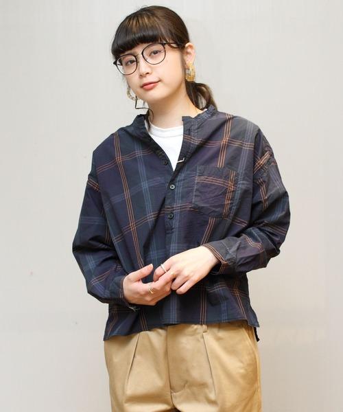 D.M.G. / ディーエムジー チェックスタンドカラーシャツ 16-583X