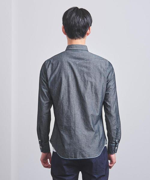<BOLZONELLA (ボルゾネッラ) >ワイドカラー シャツ