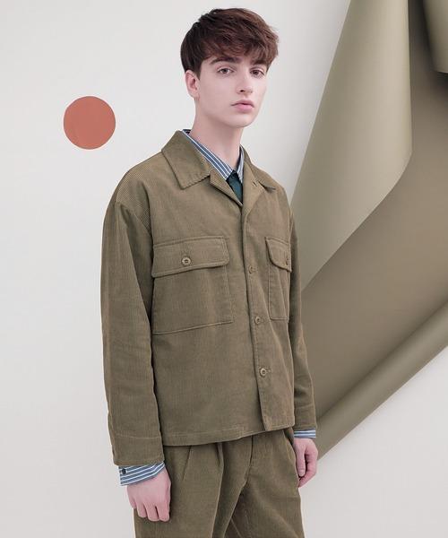 ヘヴィーコーデュロイ ボックスシルエット CPOジャケット(EMMA CLOTHES)