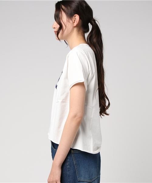 カレッジプリントカットオフTシャツ