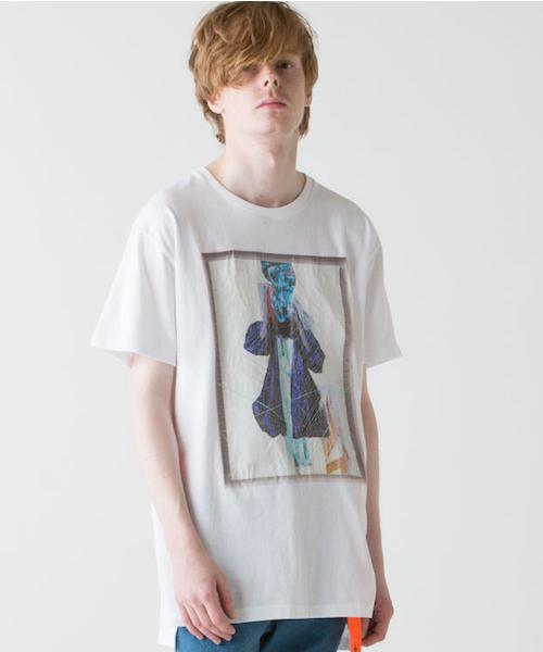rehacer(レアセル)の「rehacer : × Ai Ohkawara ' 235の静寂と '(Tシャツ/カットソー)」|ホワイト