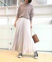 aquagirl/l'epicerie(アクアガール/レピスリー)のパッチワークフラワープリーツスカート(スカート)
