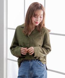 夢展望(ユメテンボウ)のテーラードカラーオーバーサイズボクシーシャツ(シャツ/ブラウス)