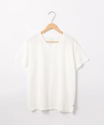USAコットンリラックスVネックライトTシャツ