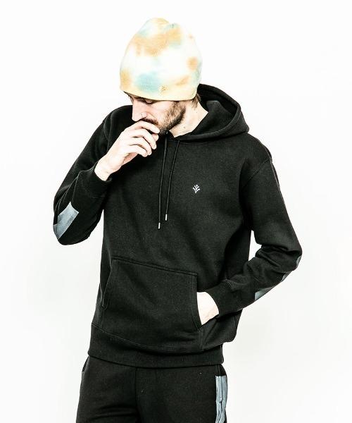 ACANTHUS(アカンサス)の「mpa2313-Line Paint Hooded Sweatshirt(パーカー)」|ブラック