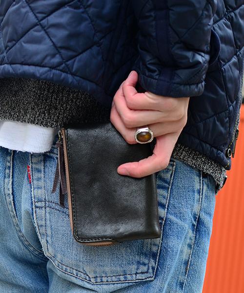 DEVICE ヴィンテージ ダブルジップ二つ折り財布