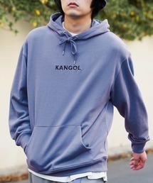▽WEB限定 KANGOL/カンゴール 別注ロゴ刺繍 オーバーサイズ プルオーバーパーカーパープル系その他