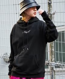 ▽WEB限定 KANGOL/カンゴール 別注ロゴ刺繍 オーバーサイズ プルオーバーパーカーブラック系その他3