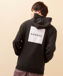 ▽WEB限定 KANGOL/カンゴール 別注ロゴ刺繍 オーバーサイズ プルオーバーパーカーブラック系その他5