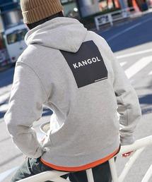 ▽WEB限定 KANGOL/カンゴール 別注ロゴ刺繍 オーバーサイズ プルオーバーパーカーグレー系その他3