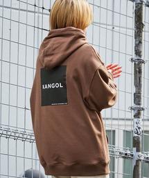 ▽WEB限定 KANGOL/カンゴール 別注ロゴ刺繍 オーバーサイズ プルオーバーパーカーブラウン系その他2